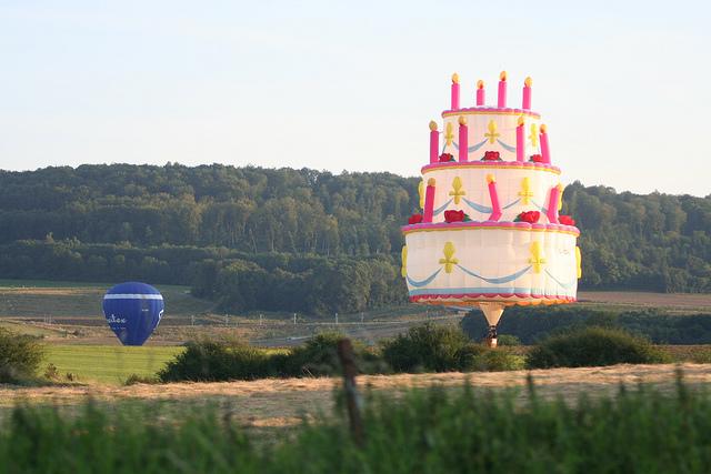 Balloon Shaped Birthday Cake